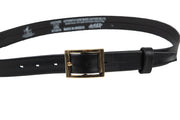 Women's thin belt handcrafted from black soft leather ideal for dresses WB5248/30G