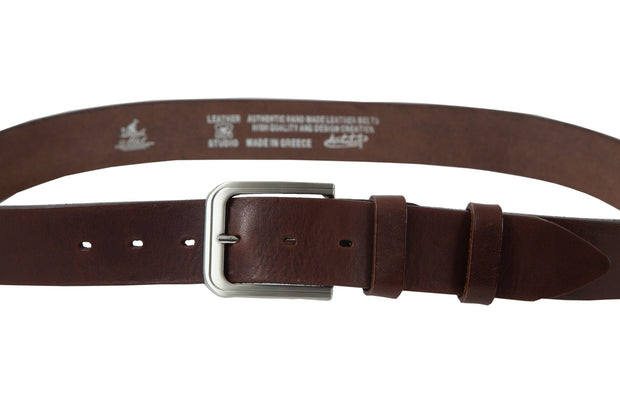 Belt for jeans in natural brown leather WB100854/40
