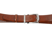 Belt for suits in light brown leather WA5/35
