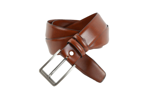 Belt for suits in light brown leather WA7/35