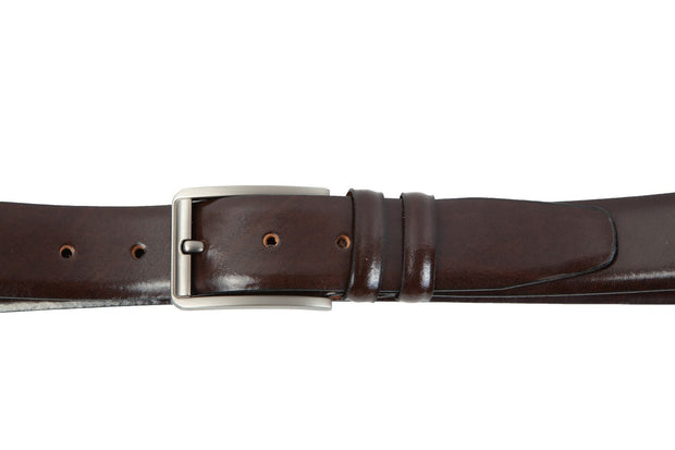 Belt for suits in brown leather WA10/35