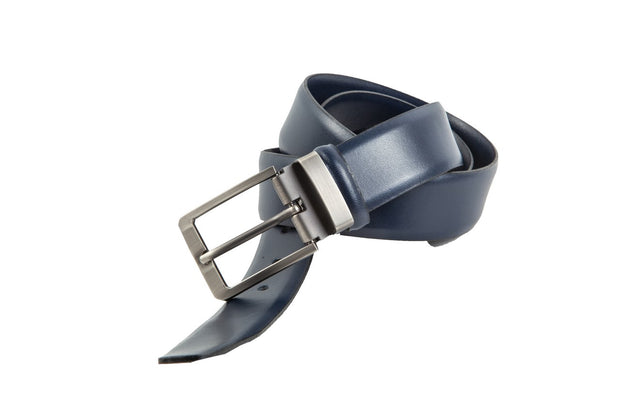 Belt for suits in blue leather WA3/35