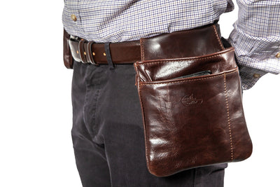 Waiter bag in soft brown leather WB/4