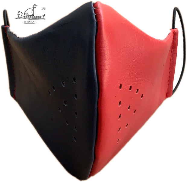 Leather mask with cotton lining, filter pocket and nose support Mk1/4-1