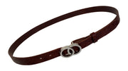 Women's thin belt handcrafted from natural leather with design 101343/25k-ll