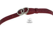 Women's thin belt handcrafted from natural leather with  design 101343/25kk-ll