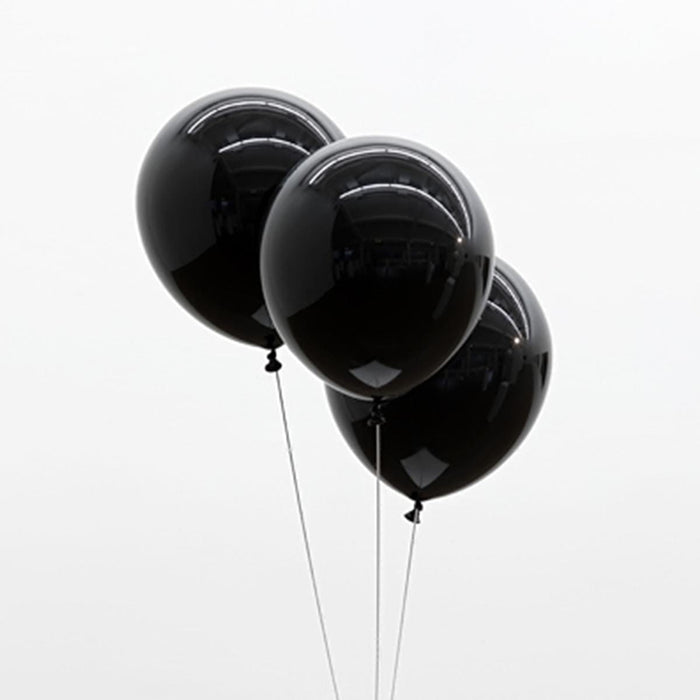 Extraordinary Black Balloons (pack Of 20)