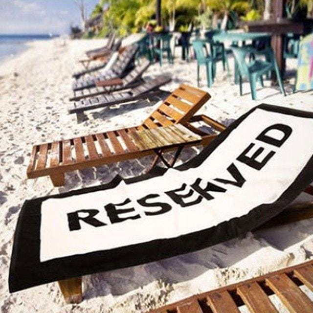 """Reserved"" Beach Towel"