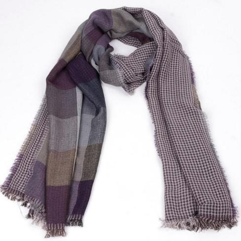 Scarves - Plaid Long Scarf
