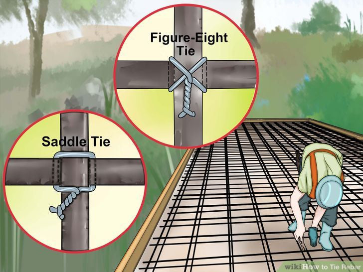 How To Tie Rebar With Picture How To Tie Tmt Steel Bars