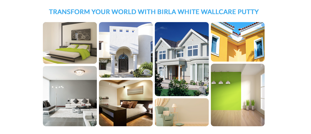 Transform the World with Birla White Wall care Putty | Hindustan Steel Suppliers