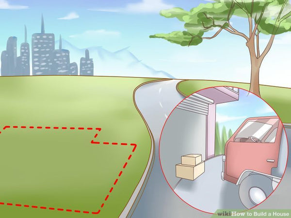 How to Build a House | Steps to Build your Home |  Consider access issues. On large parcels, especially, you will need to ascertain the route for a usable driveway if you depend on a car for transportation. Look at any low area that would become impassable in winter mud or heavy summer rain, how installing driveway will affect the landscape, and whether a driveway will be in conflict with underground utilities.      Pay particular attention to the way surface water will drain off the property. Every effort should be made so that water drains off and away from the driveway. This may require the placement of culverts or pipes under the driveway to avoid puddling along its sides. | Hindustan Steel Suppliers