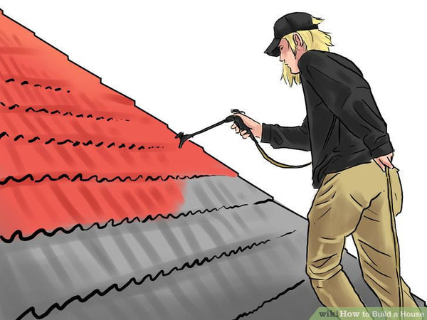 Install your final roof. You may choose painted sheet metal panels, rolled steel formed to lengths needed on site, or shingles, terra cotta tiles, or other materials, depending on your preference, costs, and products available at your location. Consider ridge vents, attic exhaust fans, vented dormers, and other architectural details which can increase the comfort of your house while decreasing cooling costs in hot climates. | Hindustan Steel Suppliers