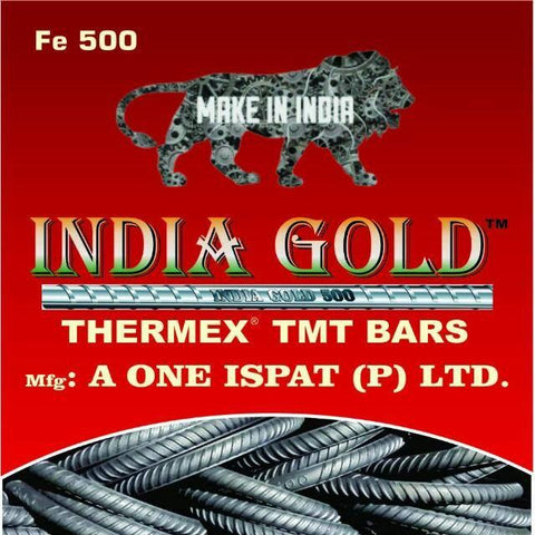 India Gold TMT ISI Fe 500 Grade - Hindustan Steel Suppliers