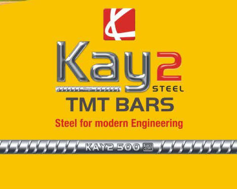 Kay2 TMT Steel ISI Fe-500 Grade - Hindustan Steel Suppliers