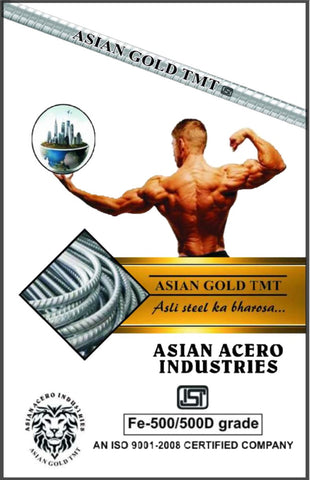 Asian Gold TMT Steel Fe 500 Grade - Hindustan Steel Suppliers