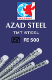 Azad TMT Steel ISI Fe 500 Grade - Hindustan Steel Suppliers