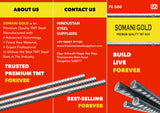 SOMANI GOLD TMT STEEL ISI FE-500 GRADE - Hindustan Steel Suppliers