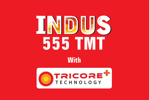 Indus TMT Steel Fe 555 Grade - Hindustan Steel Suppliers