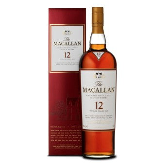 Macallan 12 Years Sherry Oak Discontinued Red Box - The Whisky Shop Singapore