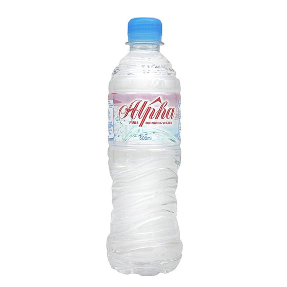 Alpha Mineral Water (24 x 500ml) - The Whisky Shop Singapore