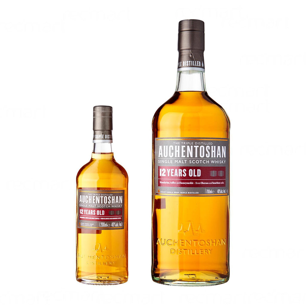 Auchentoshan 12 Years 70cl + Auchentoshan 12 years 20cl Gift Set With Box - The Whisky Shop Singapore