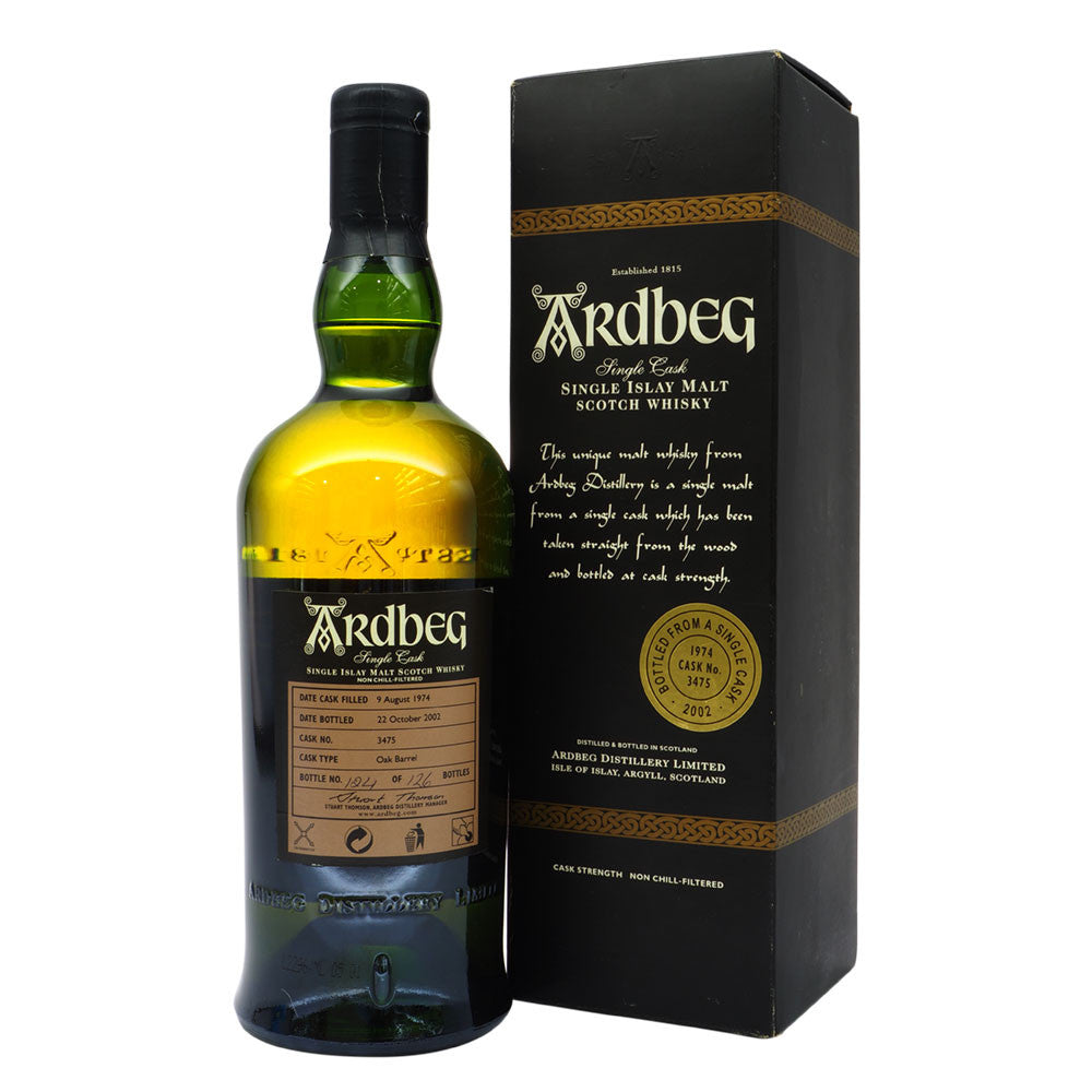 Ardbeg 1974 28 Years Cask 3475 - Bottle No. 124 - The Whisky Shop Singapore