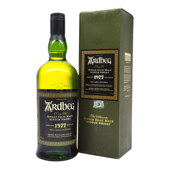 Ardbeg 1977 Limited Edition - Bottle 1 - The Whisky Shop Singapore
