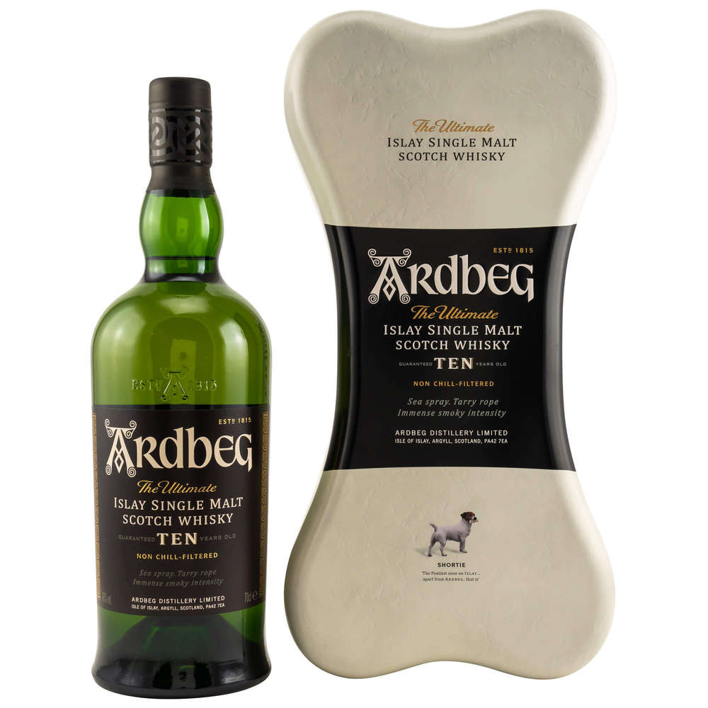 Ardbeg 10 Years Old Dog Bone GBX 70cl - The Whisky Shop Singapore