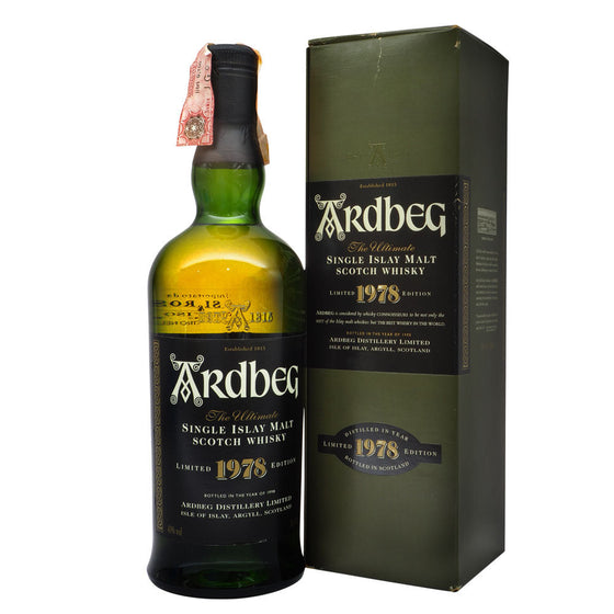 Ardbeg 1978 - Limited Edition - Bottle 1 - The Whisky Shop Singapore