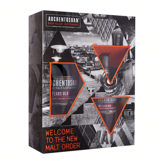 Auchentoshan 12 Years 70cl FREE Auchentoshan 12 years 20cl Gift Set With Box