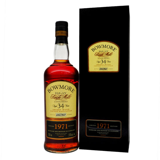 Bowmore 1971 34 Years - The Whisky Shop Singapore