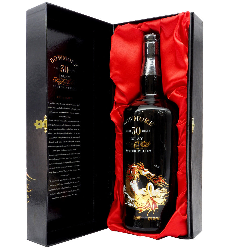 Bowmore 30 Years - Sea Dragon Ceramic South African Import - The Whisky Shop Singapore