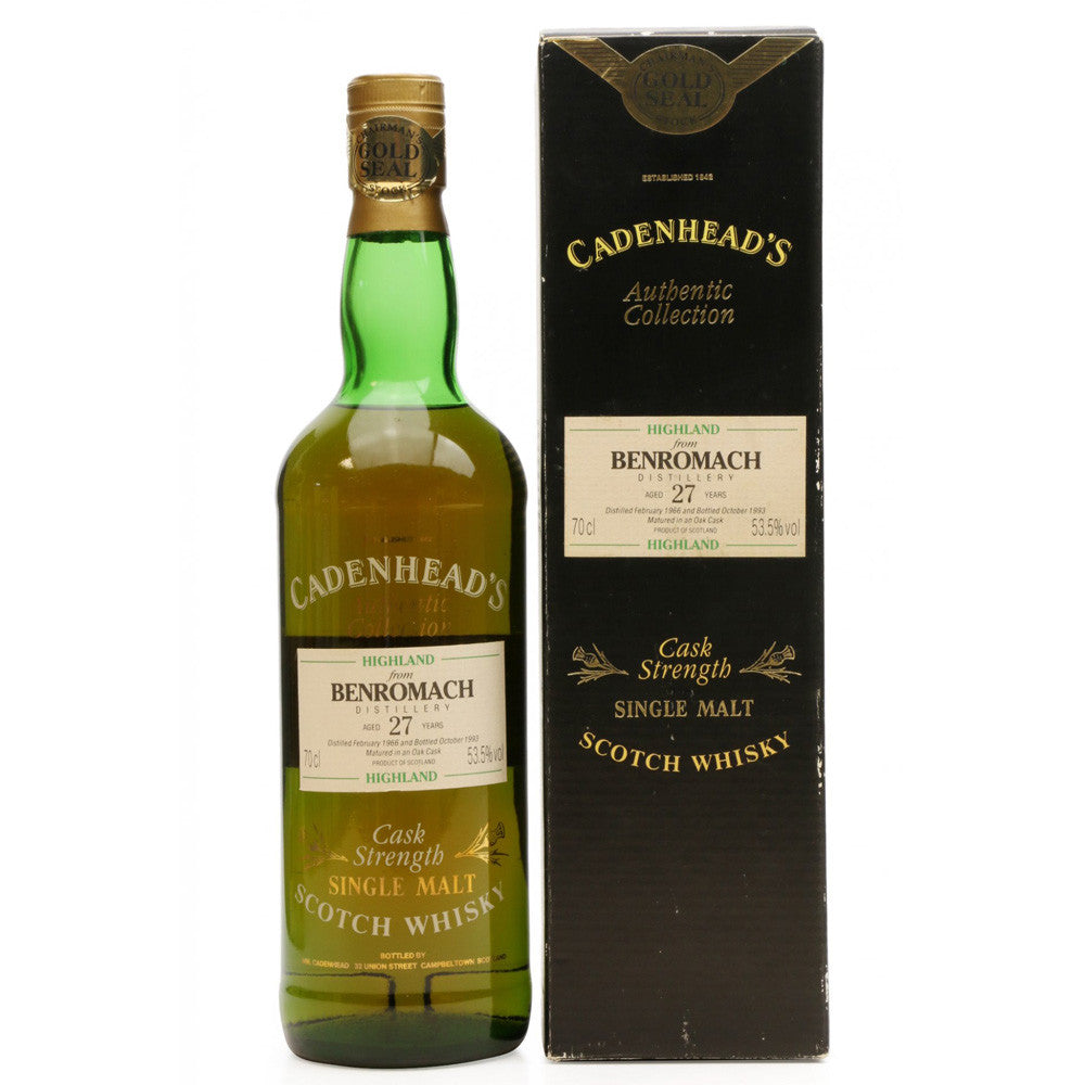 Benromach 1966 27 Years Cadenhead - Authentic Collection - The Whisky Shop Singapore