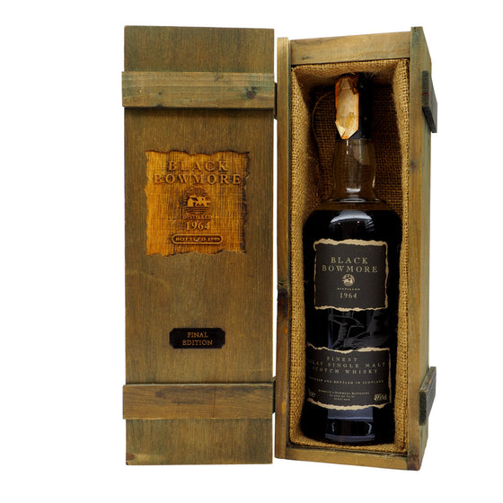 Black Bowmore 1964 31 Years Third Edition - Bottle 1 - The Whisky Shop Singapore