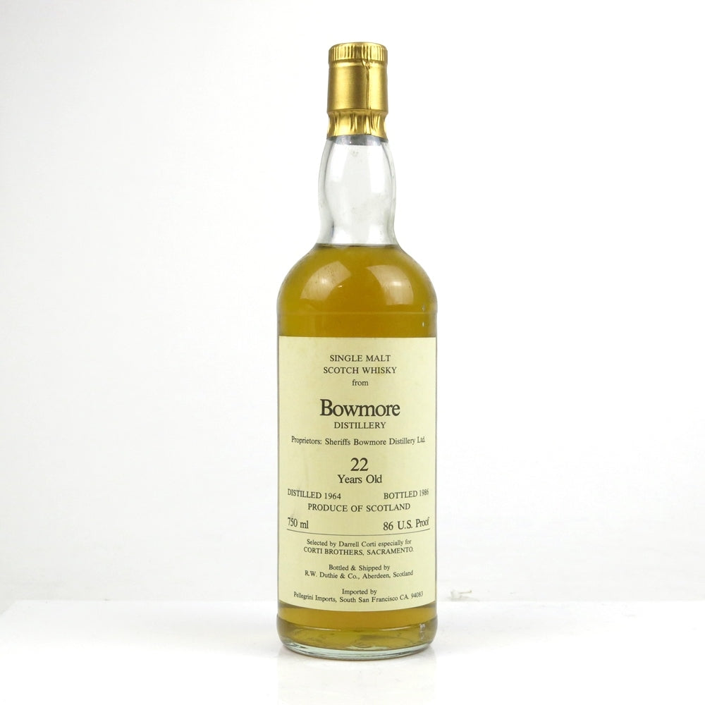 Bowmore 1964 22 Years Duthie - Corti Brothers - The Whisky Shop Singapore