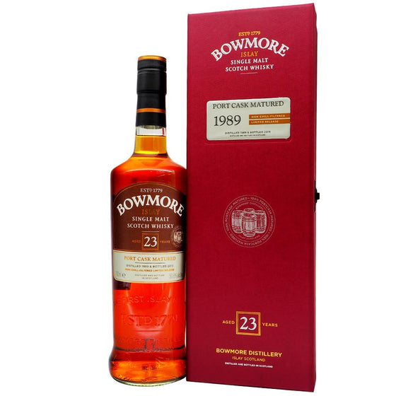 Bowmore 1989 23 Years - Port Cask Matured - The Whisky Shop Singapore