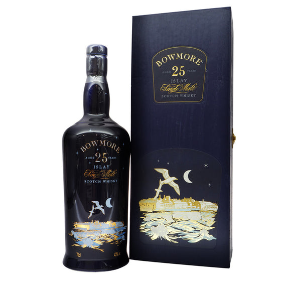Bowmore 25 Years - The Gulls Ceramic Bottle - The Whisky Shop Singapore