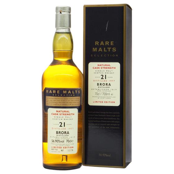 Brora 1977 21 Years Rare Malts Selections - Bottle No. 5278 - The Whisky Shop Singapore