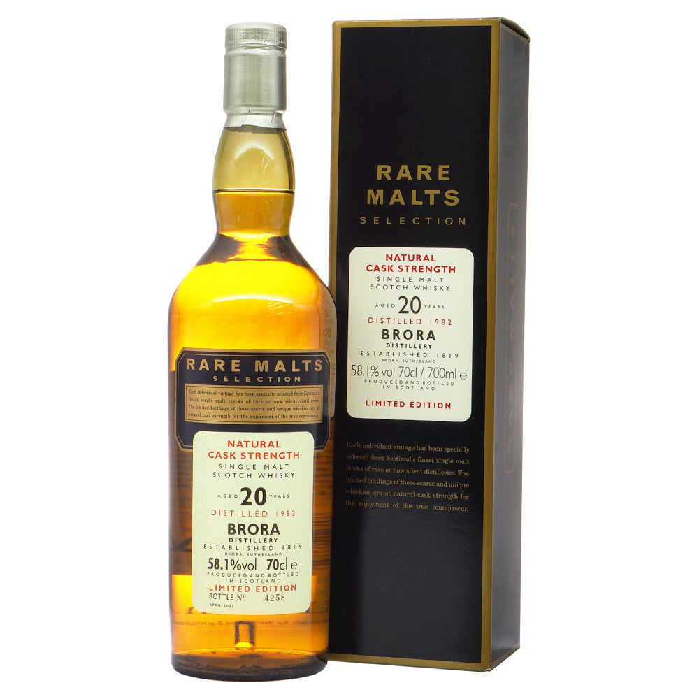 Brora 1982 20 Years Rare Malts Selections - Bottle No. 4258 - The Whisky Shop Singapore