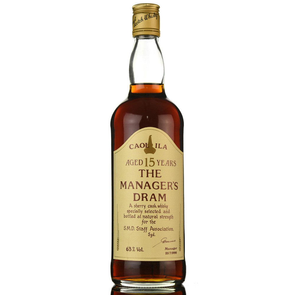 Caol Ila 15 Years Manager's Dram - Bottle 1 - The Whisky Shop Singapore