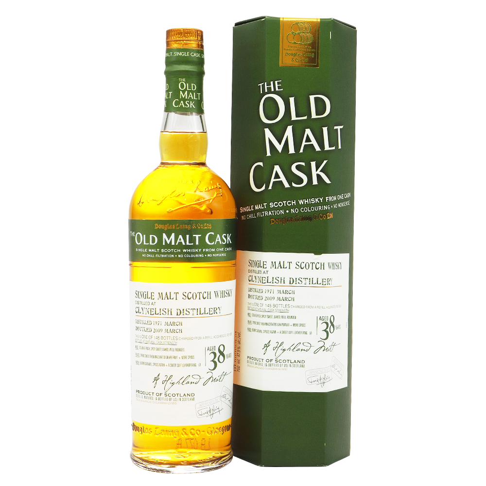 Clynelish 1971 38 Years Douglas Laing - Old Malt Cask - The Whisky Shop Singapore