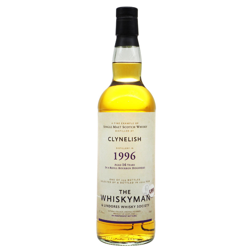 Clynelish 1996 16 Years - The Whisky Man & Lindores Whisky Society - The Whisky Shop Singapore