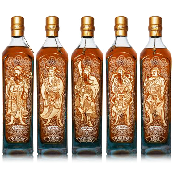 Johnnie Walker Blue Label - 5 Gods of Wealth - The Whisky Shop Singapore