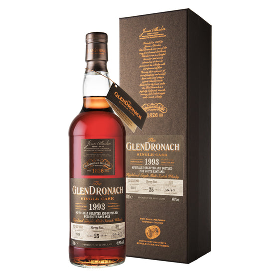 Glendronach 25 Years Old 1993 Cask 393 for Southeast Asia Edition