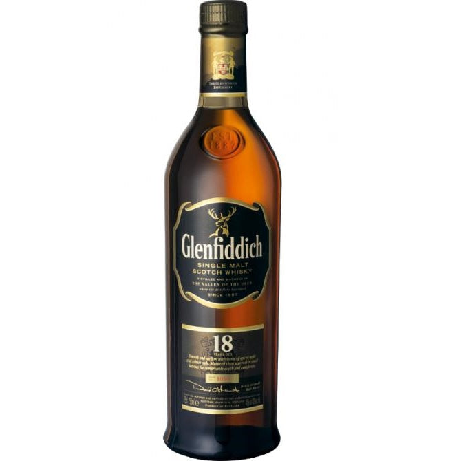 Glenfiddich 18 Years Vintage Bottle