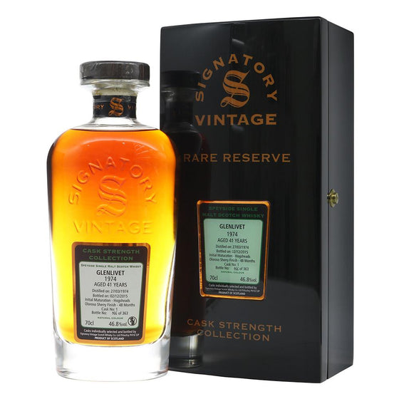 Glenlivet 1974 41 Years Signatory Vintage - Rare Reserve #166 - The Whisky Shop Singapore