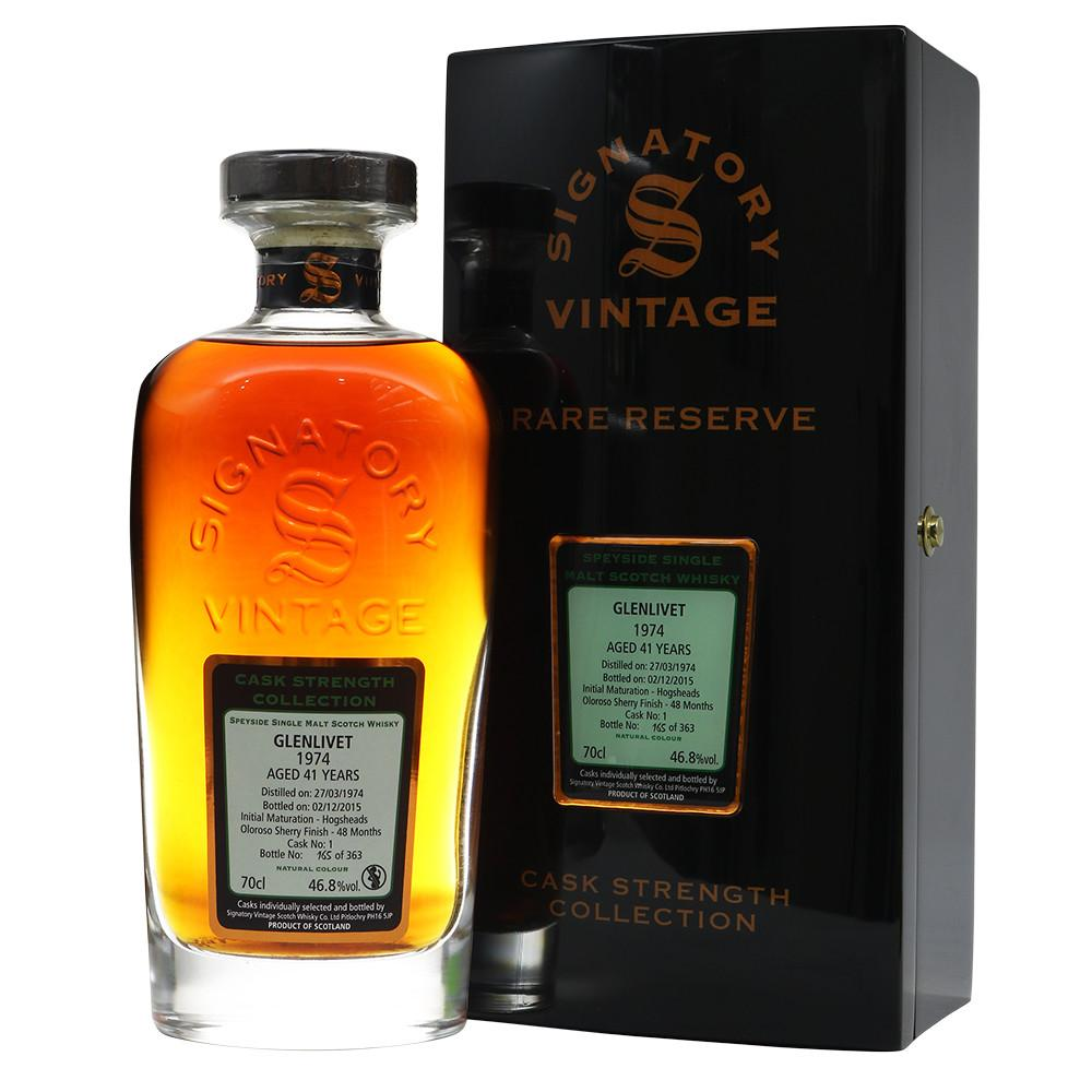 Glenlivet 1974 41 Years Signatory Vintage - Rare Reserve - The Whisky Shop Singapore