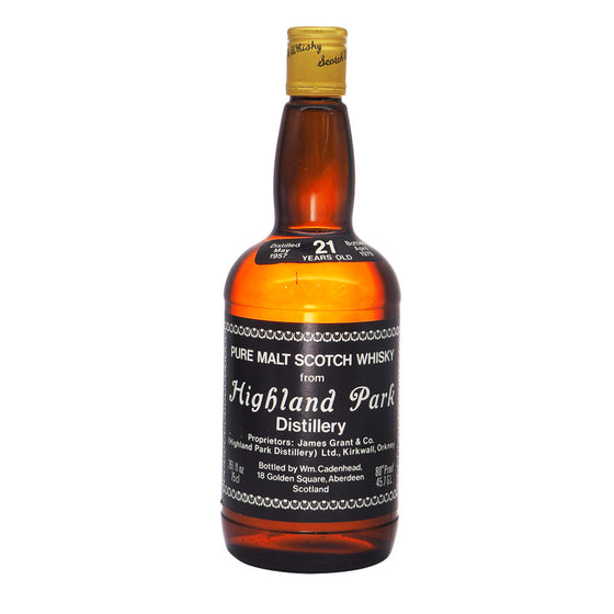 Highland Park 1957 21 Years Cadenhead (Bot. 1979) - The Whisky Shop Singapore