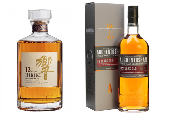 Hibiki 12 Years + Auchentoshan 12 Years - The Whisky Shop Singapore